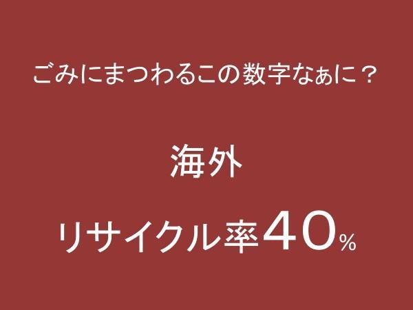 海外リサイクル率40%