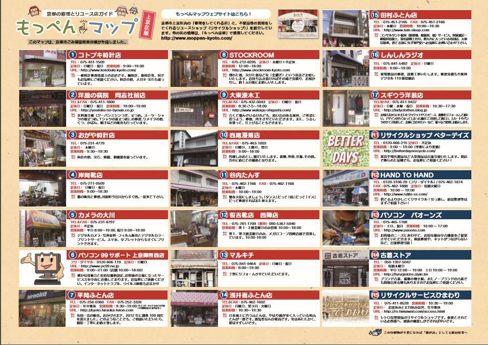 もっぺんマップ上京区版・裏イメージ